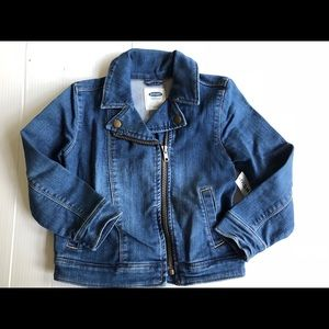 Girls SZ 5T Old Navy Zip Front Denim Jacket NWT